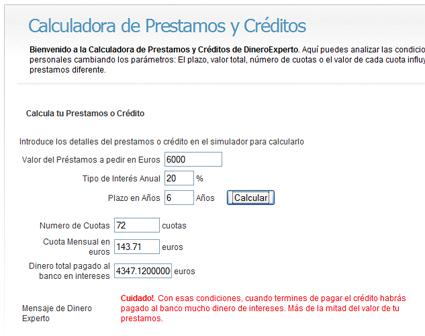 Prestamos urgentes de efectivo calculadora prestamos for Efectivo ya sucursales