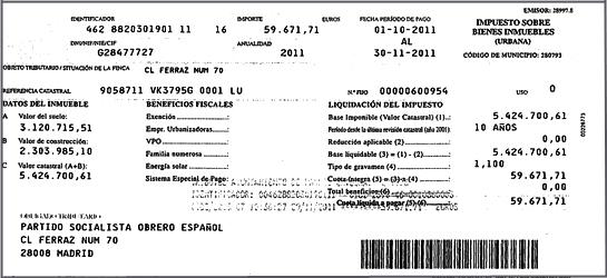 Impuesto sobre bienes inmuebles ibi ayuntamientos de for Impuesto de bienes muebles