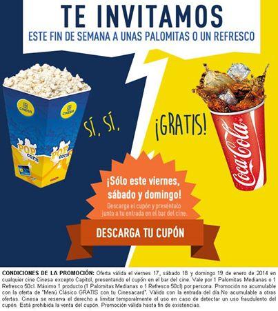 Palomitas refresco gratis con tu entrada en cinesa blog for Cine capitol precio entrada