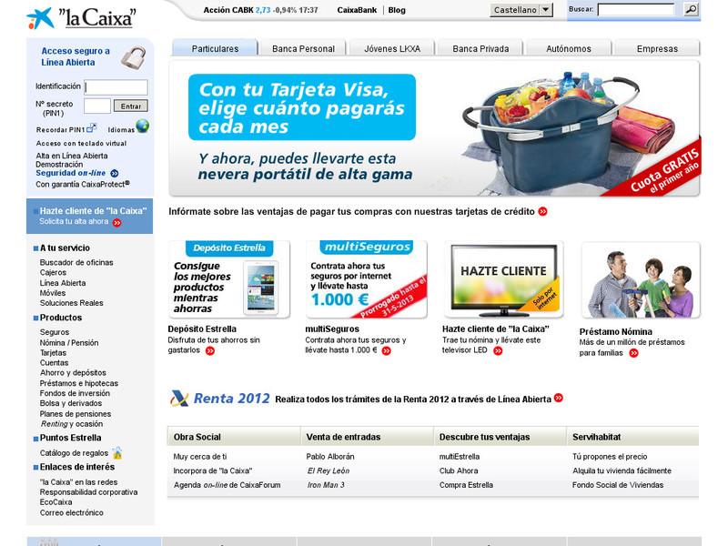 Cuentas corrientes para particulares de la caixa blog de for La caixa oficina internet