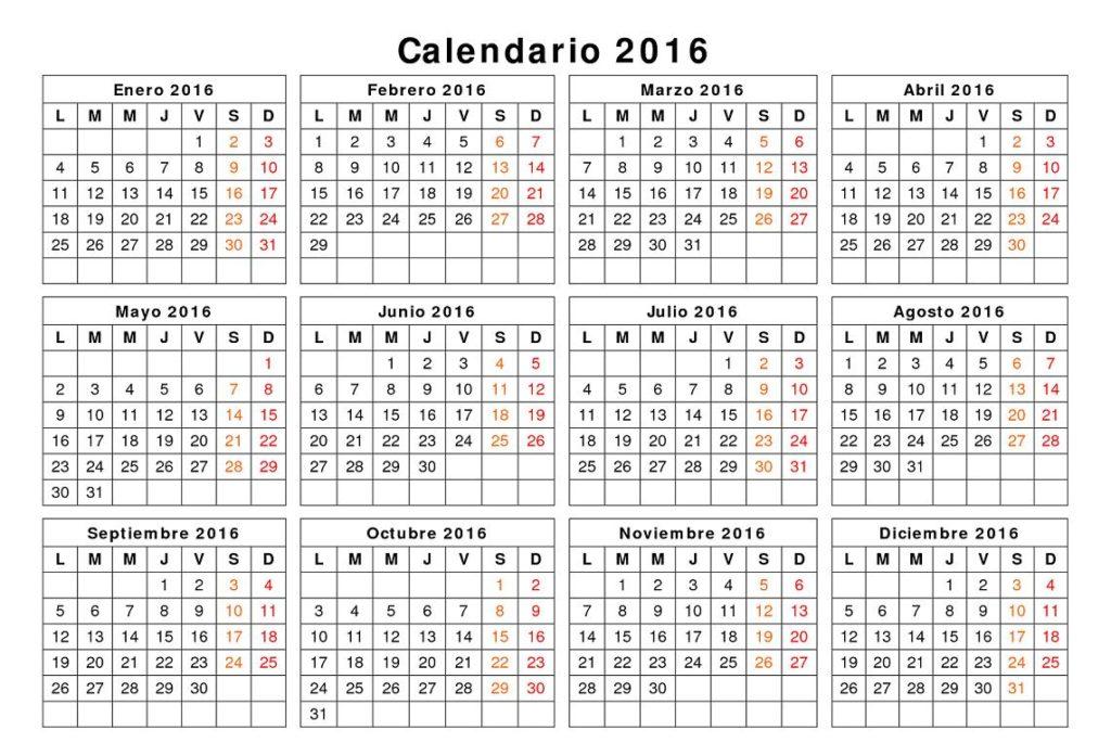 Festivos: El Calendario Laboral De 2016 Ya Es Oficial: Ocho …