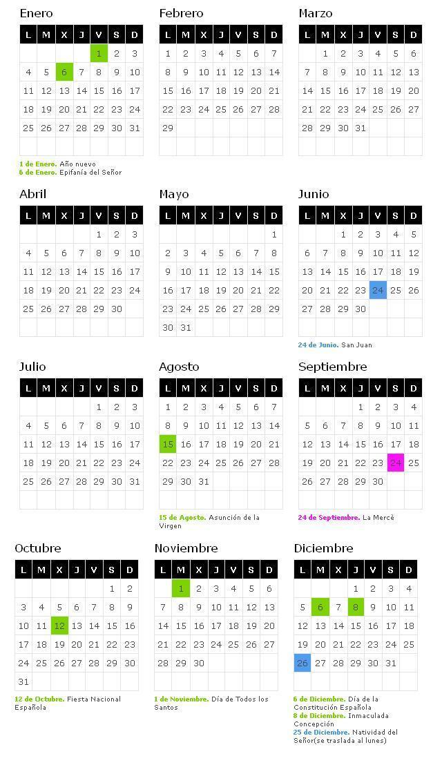 Calendario Laboral Cataluna 2019.Calendario Laboral 2019 Barcelona Blog De Opcionis