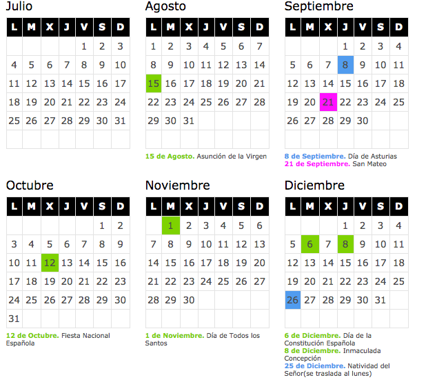 Calendario laboral 2018 asturias blog de opcionis for Festivos asturias 2017