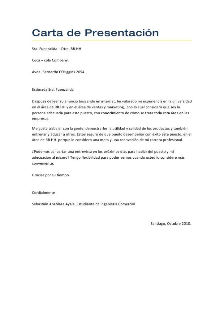 carta de presentacion ejemplos