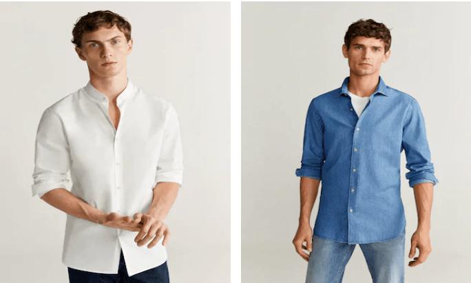 rebajas mango verano 2021 hombre camisas