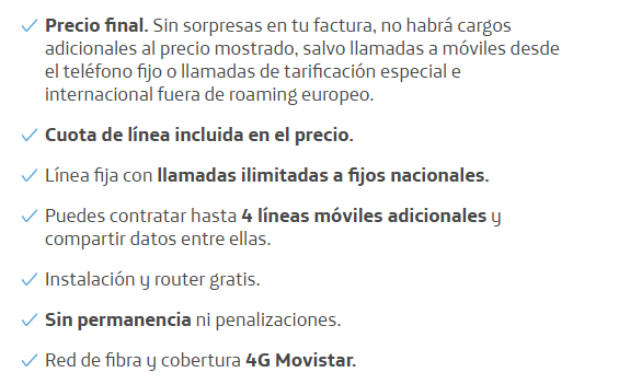 fibra y movil 300 mb y movil 5gb condiciones