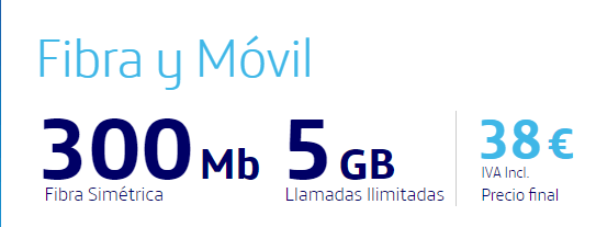 fibra y movil 300 mb y movil 5gb
