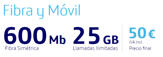 fibra y movil 600 mb y movil 25gb